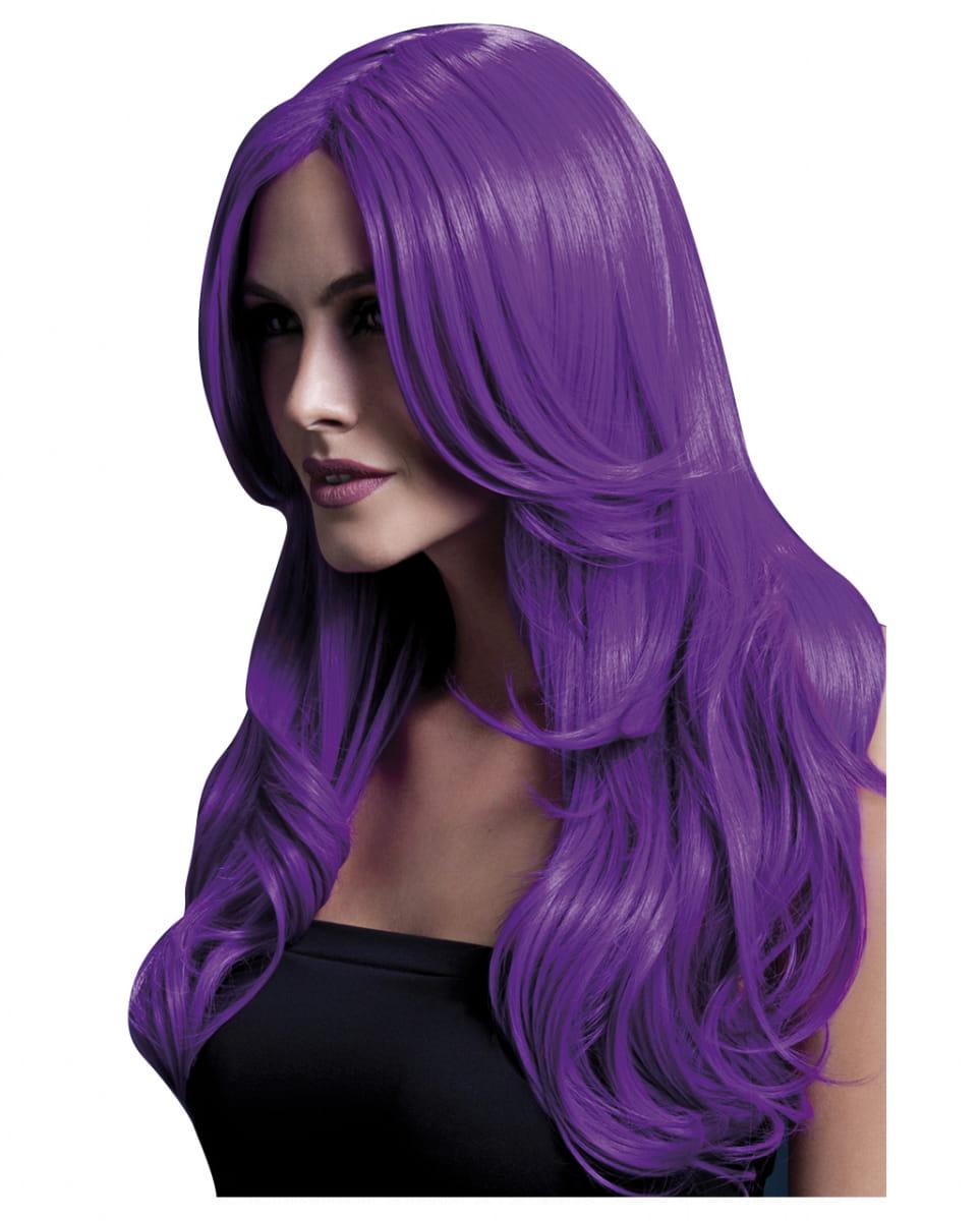 Khloe Damen Perücke violett Cosplay Perücke