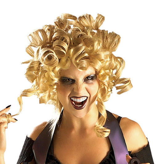 Ghouldilocks Zombie Perücke blond Lockenperücke für schicke