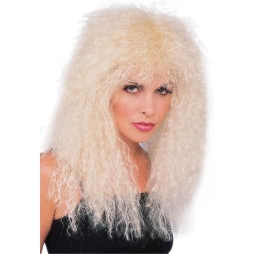 Glam Rock Perücke blond Freche Perücke im 90-iger Jahre Stil
