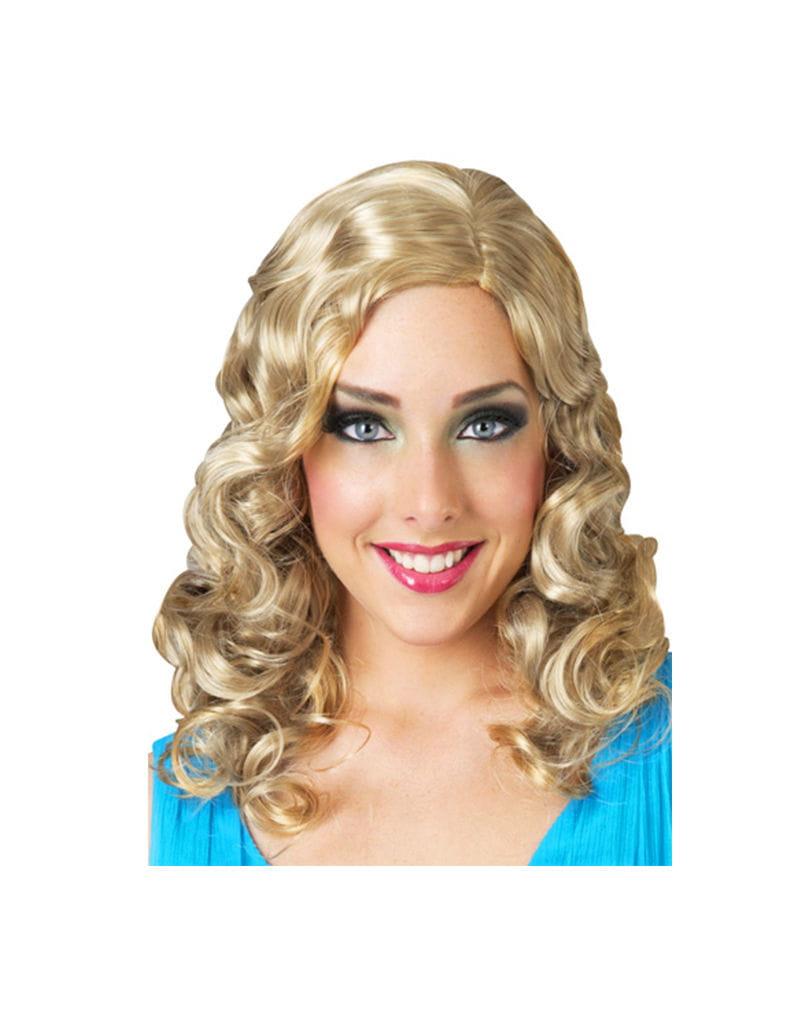 Blonde Glamour Lockenperücke Blonde Cross Dresser Perücke