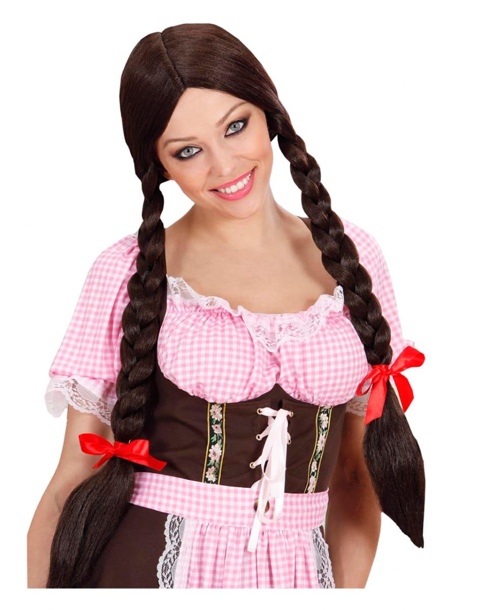 Gretel Perücke braun Bayerische Zopfperücke