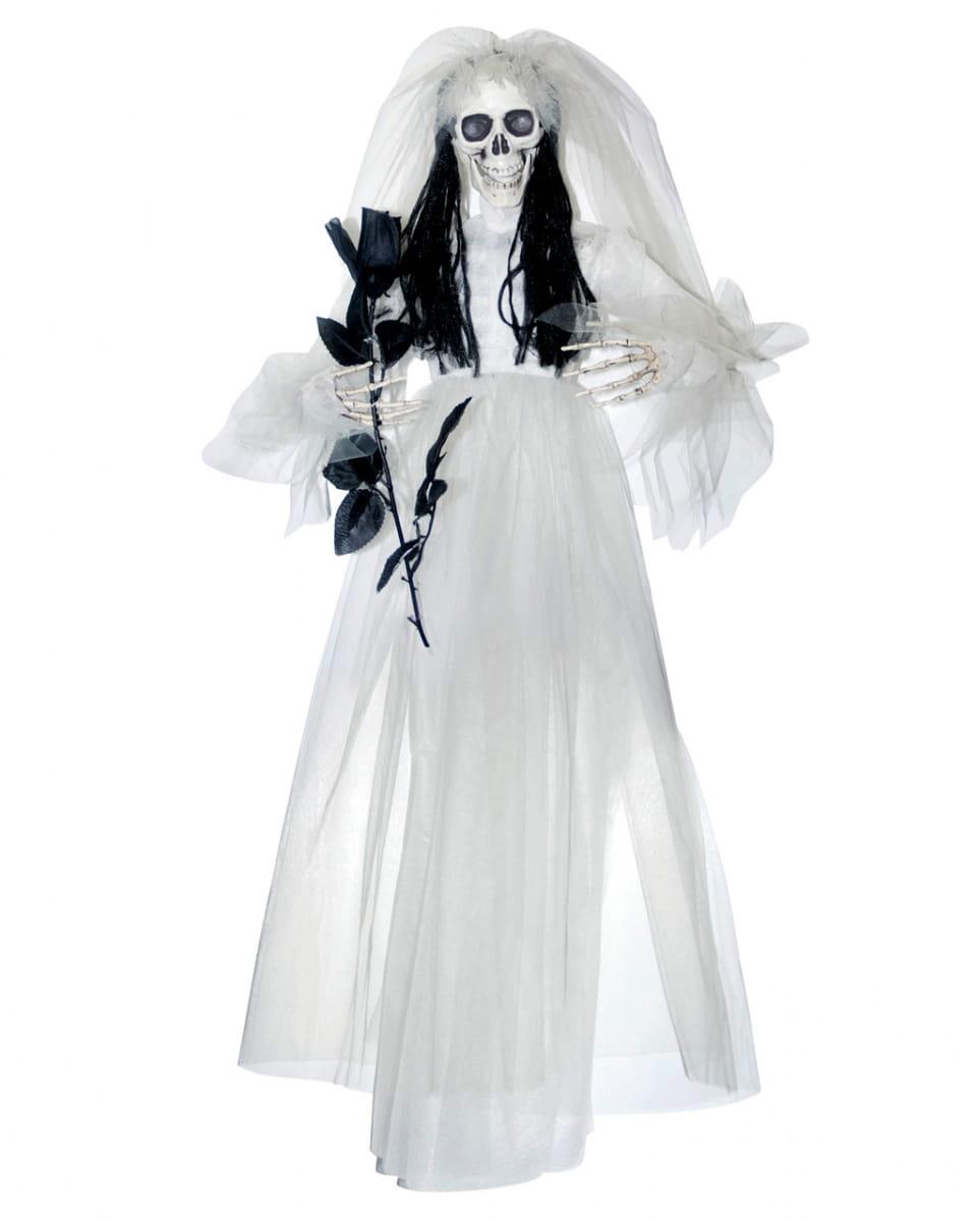 Hängendes Skelett mit Brautkleid Tolle Hängefiguren für