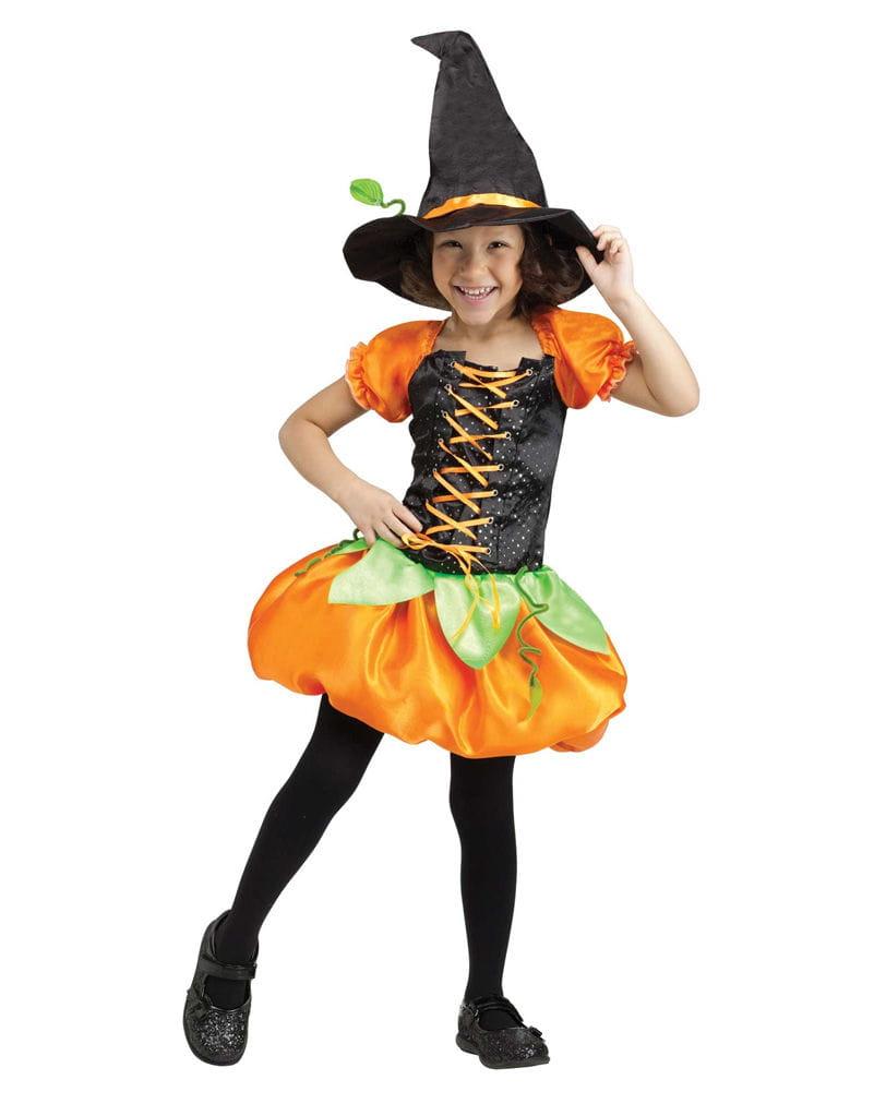 Süße Kürbis Hexe Kinderkostüm Halloween Hexenkostüm XL