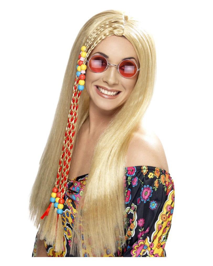 Blonde Hippie Perücke Perücke für dein Karnevalskostüm