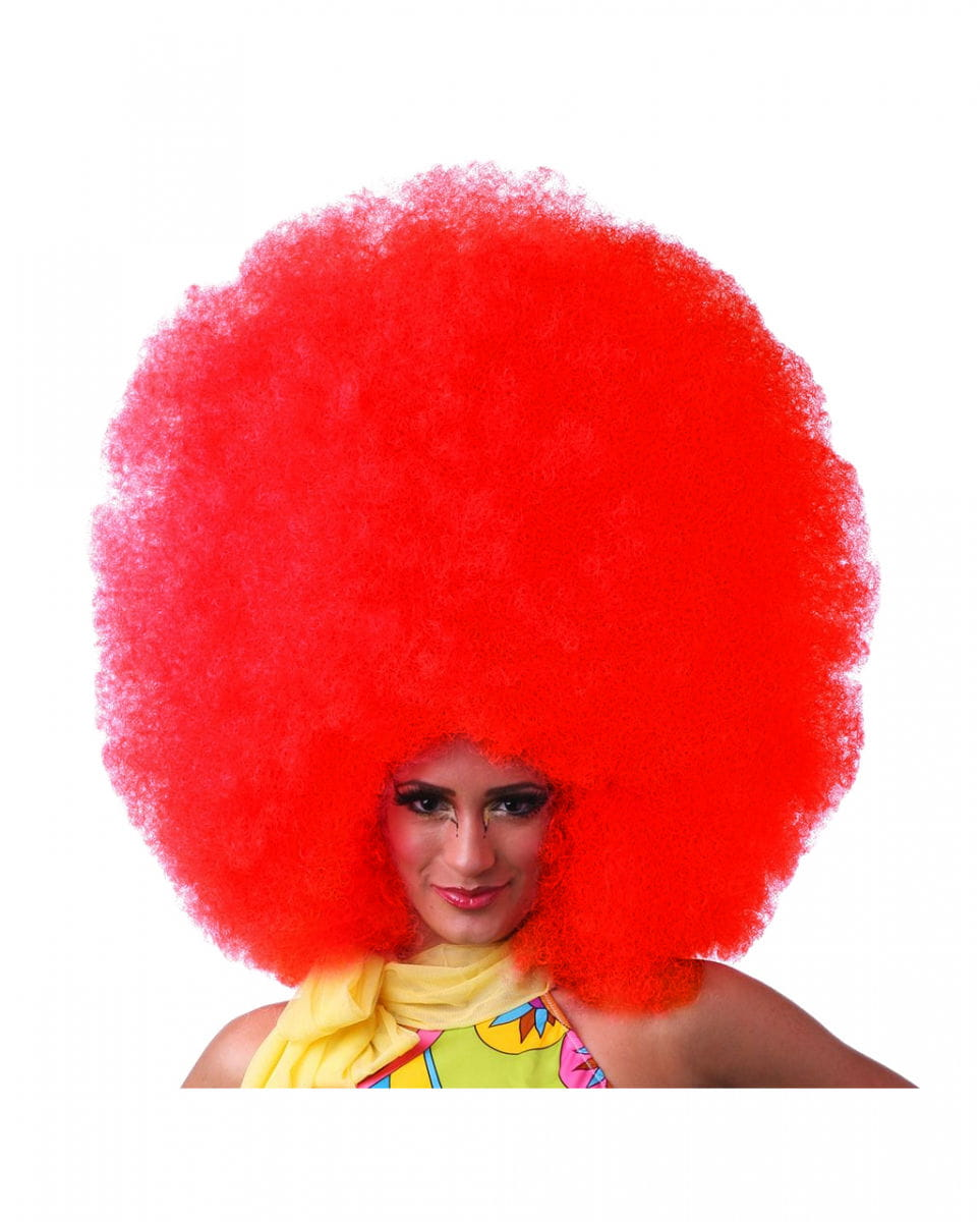 Rote Afro Perücke XXL Faschings Accessoire