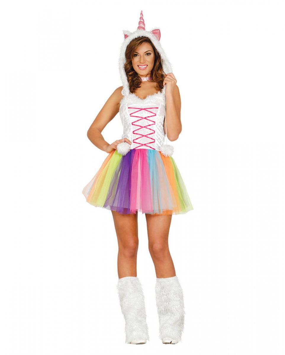 Sexy Einhorn Kostüm für Damen Märchenkostüm M
