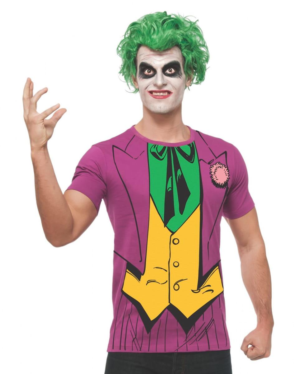 DC Comics Joker Shirt & Perücke DC Comics Verkleidung für Erwachsene XL
