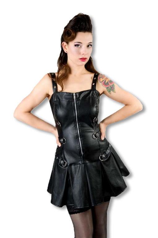 Lack Military Minikleid Fetisch Lack Kleid XS / 34