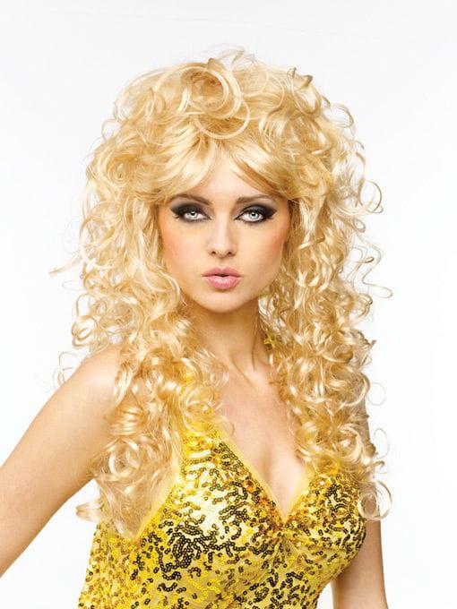 Langhaar Perücke Chantal blond Faschingsperücke kaufen