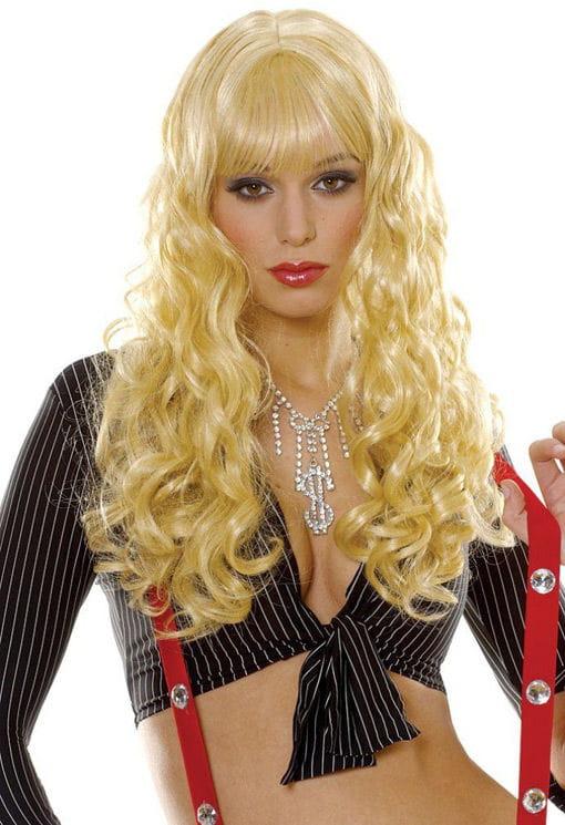 Lockenperücke Daniela blond Karneval Perücke