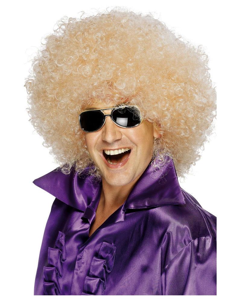 Riesen-Afro Perücke blond Mega Afro Perücke für Karneval