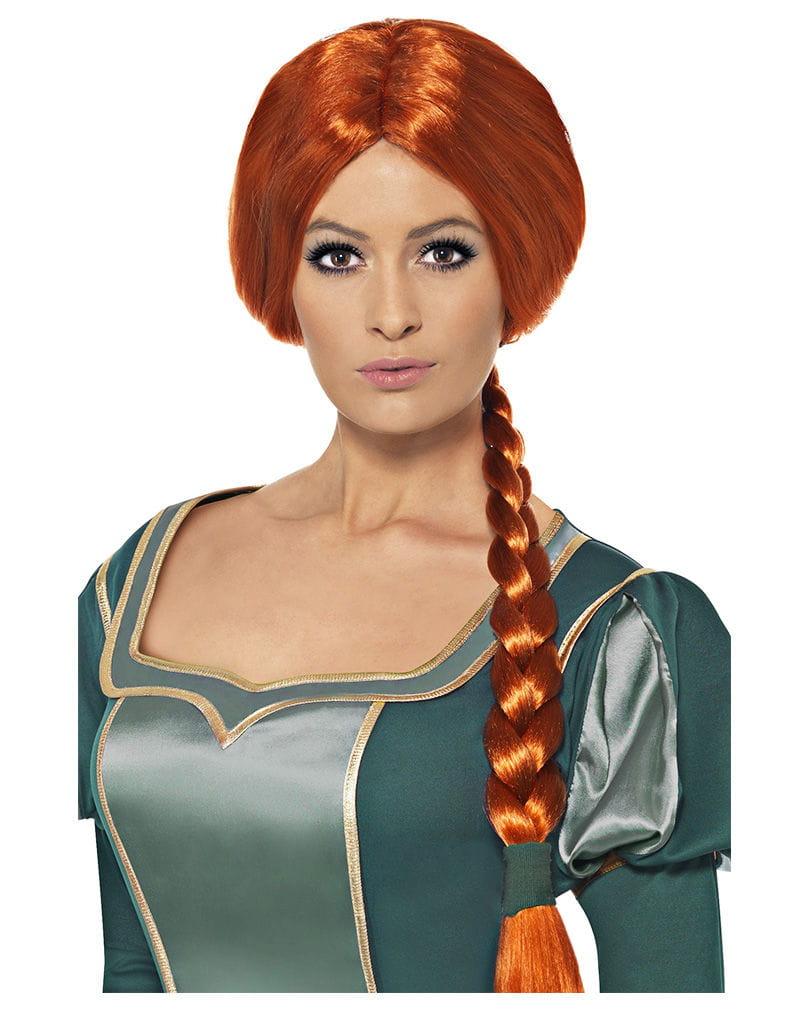 Prinzessin Fiona Perücke Rotes Fiona Kunsthaar