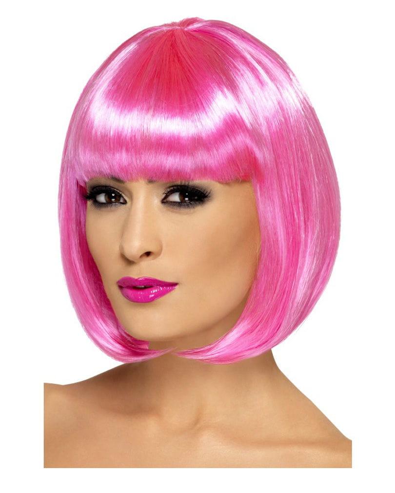 Partyrama Bob Perücke Pink Pagenkopf in Bonbon-Farben