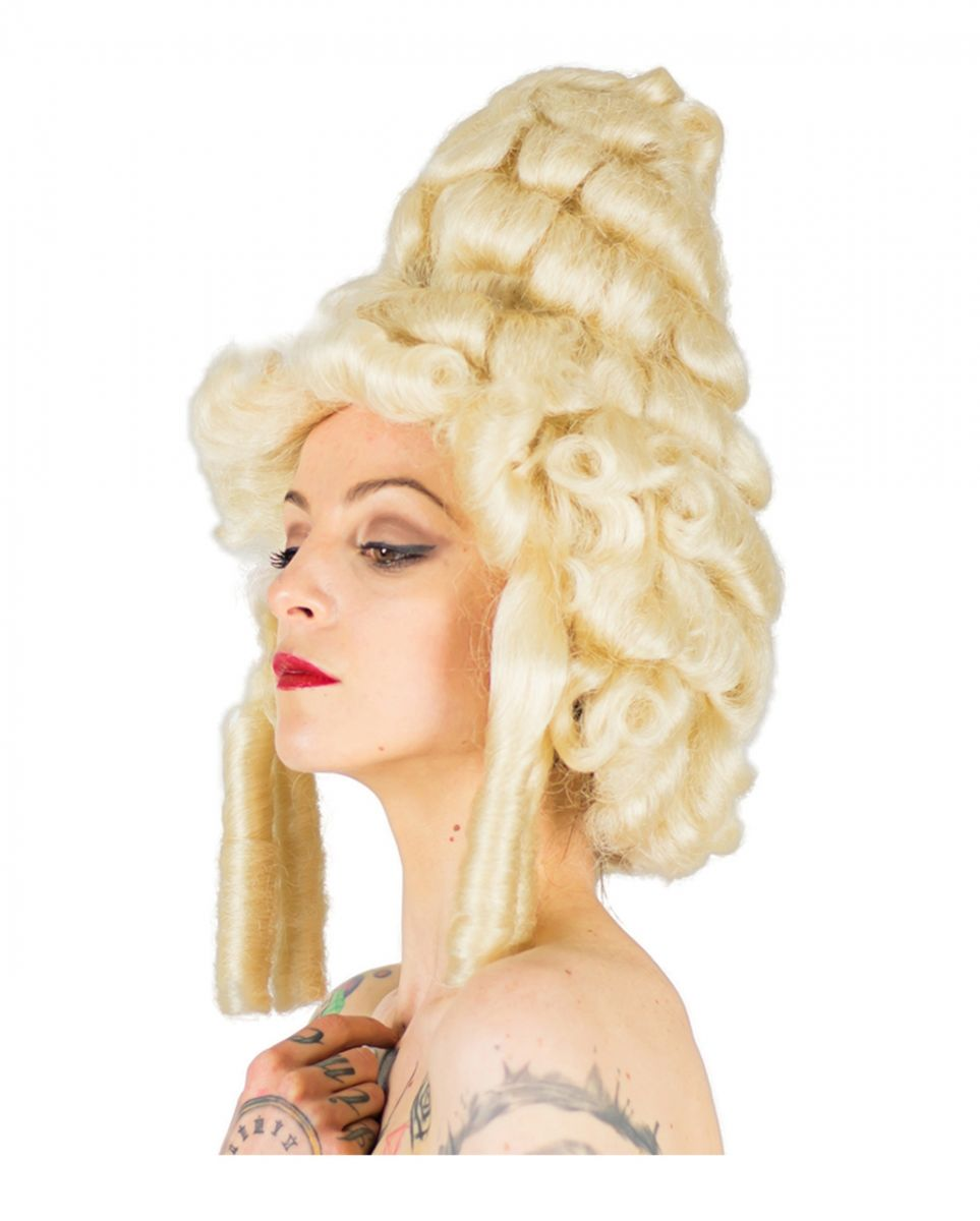 Blonde Marie Antoinette Perücke für Fasching