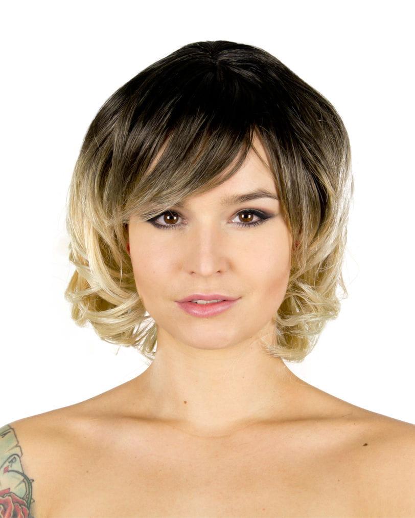 Chantel Perücke braun-blond Lockenperücken günstig online