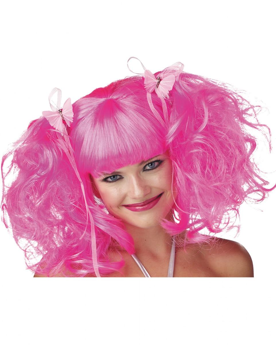Rosa Feen Perücke Halloween Perücken kaufen