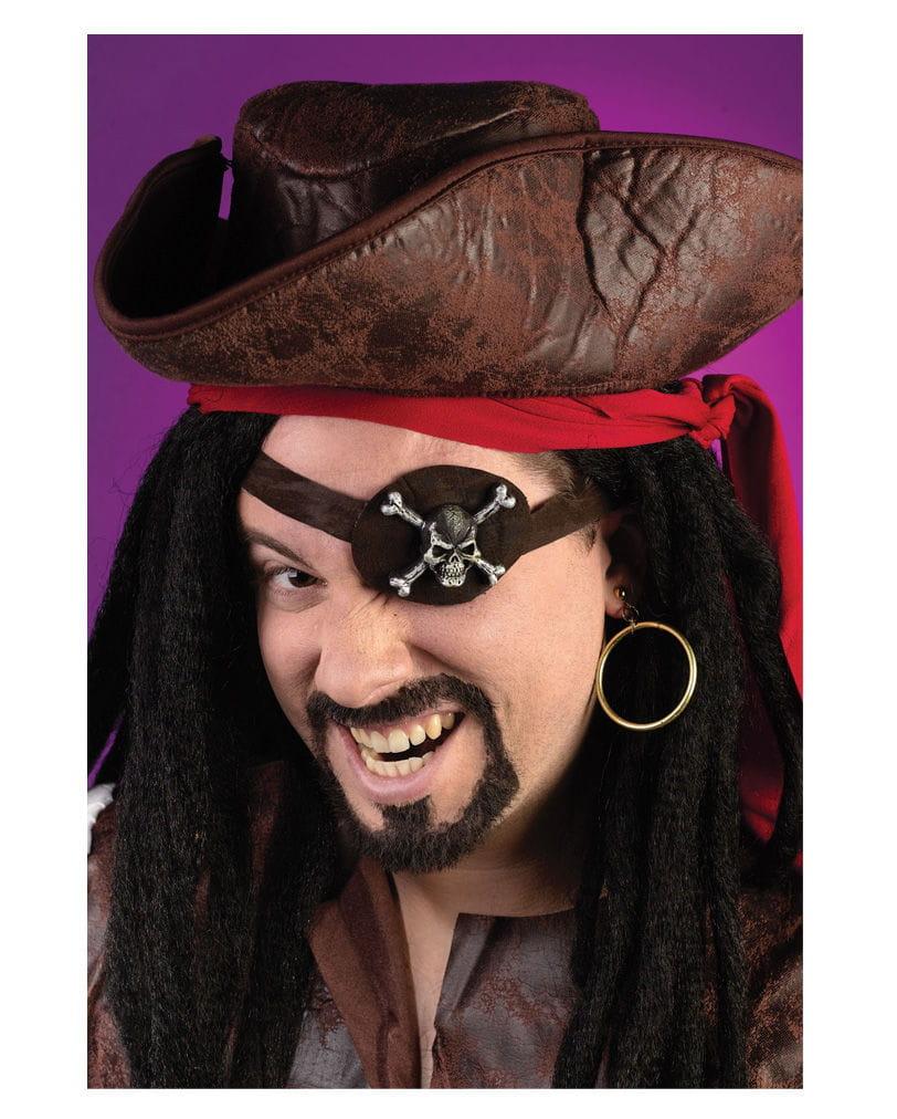 Piraten Augenklappe und Ohrring Kostümzubehör
