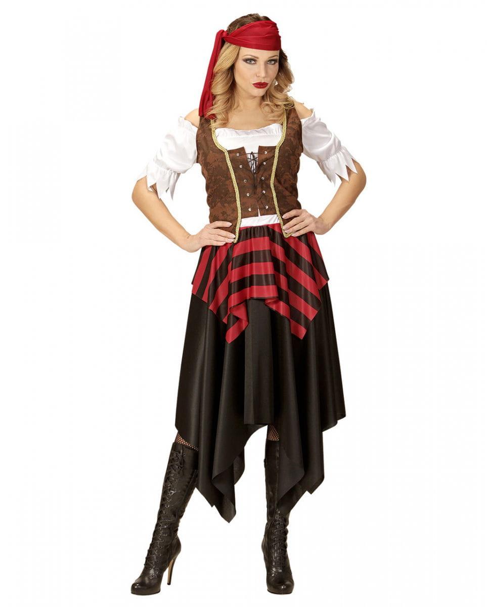 Mutige Piratin Kostüm für Damen L