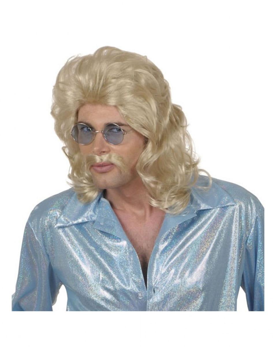 Proll Perücke Wolle blond 70er Jahre Herrenperücke