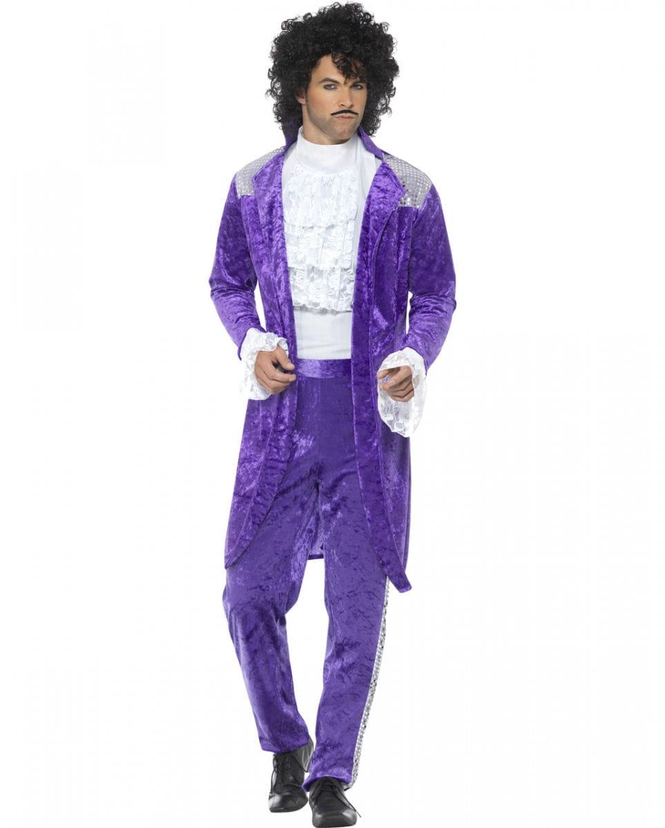 80er Jahre Purple Rain Kostüm für Fasching M