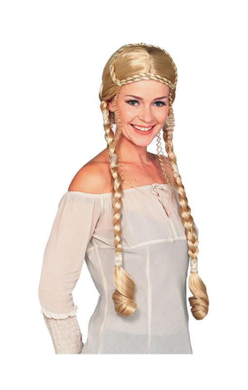 Renaissance Perücke blond Deluxe Die langen Zöpfe der
