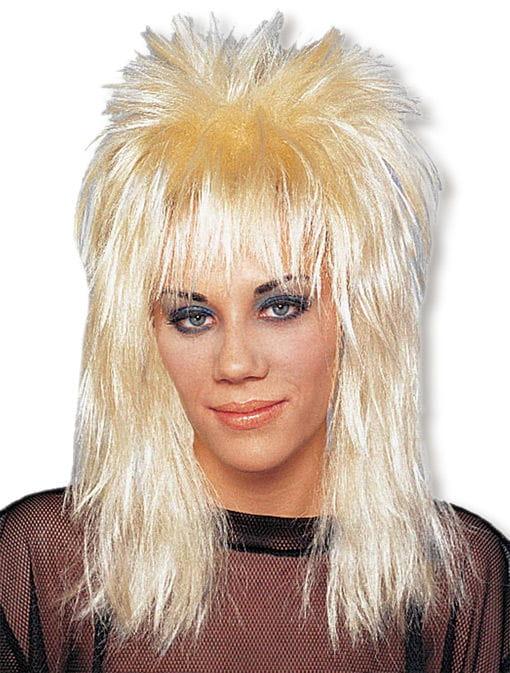 Rocker Perücke blond 80er Jahre Perücken kaufen