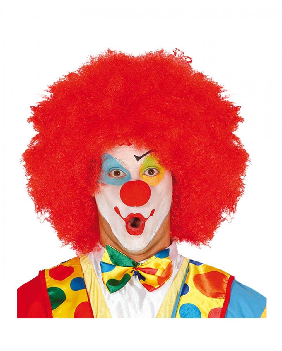 Perücke Afro Clown rot Faschingsperücke