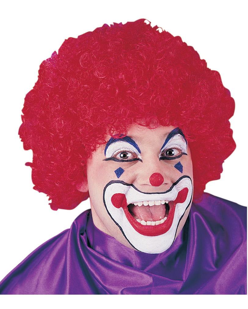 Clown-Perücke Faschingsperücke Rot Klassische Zirkus-Clown