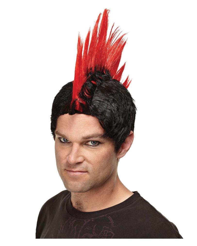 Irokesen Perücke Deluxe Rot Mohawk Perücke Punk Perücke