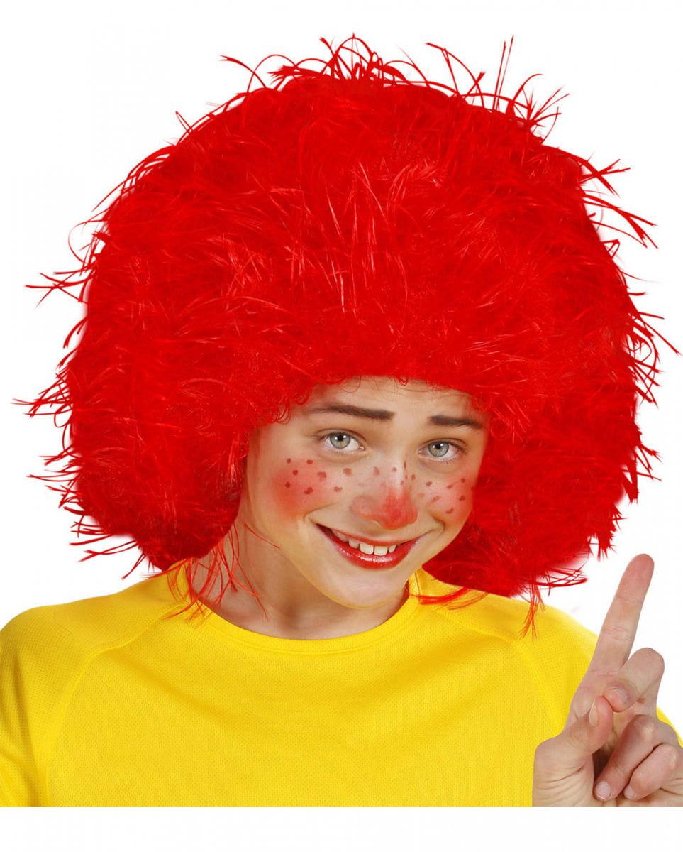 Rote Kobold Perücke für Fasching & Karneval
