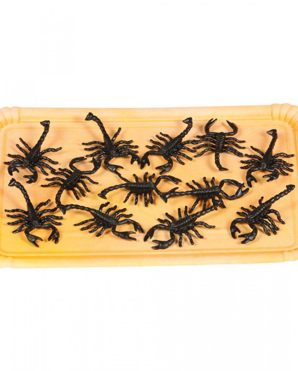 12 Schwarze Skorpione Halloween Deko kaufen