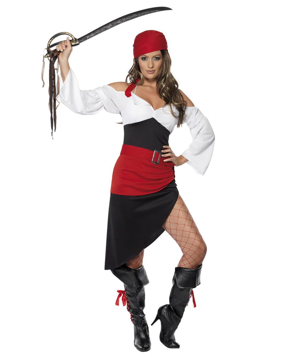 Freibeuterin Kostüm für Damen Heißes Piratin Damenkostüm L