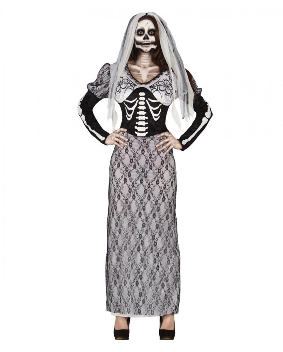 Skelettbraut Kostümkleid Brautkleid für Halloween One Size