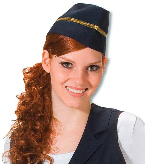 Stewardessen Schiffchen als Kostüm Zubehör