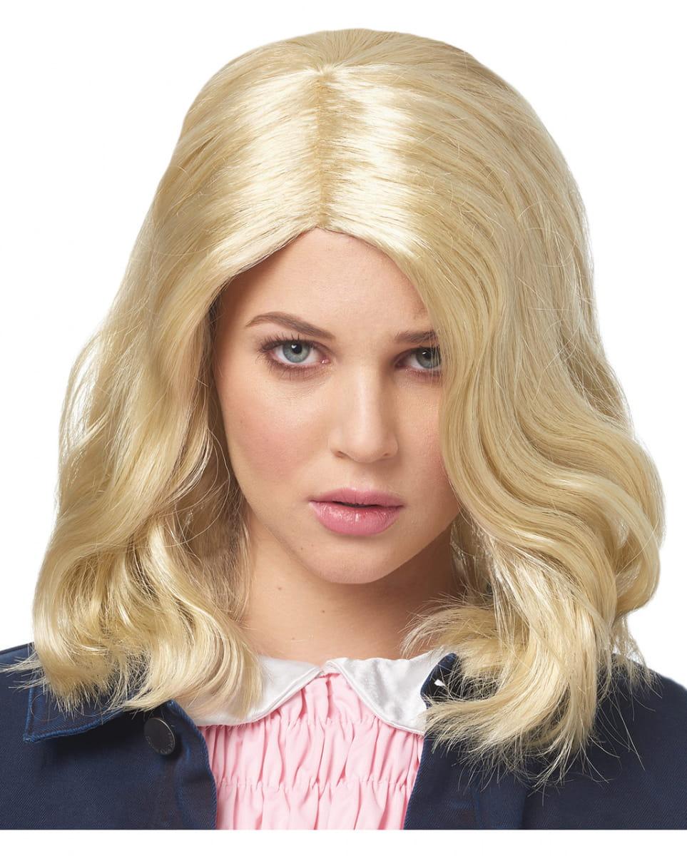 Blonde Strange Girl Perücke für Fasching