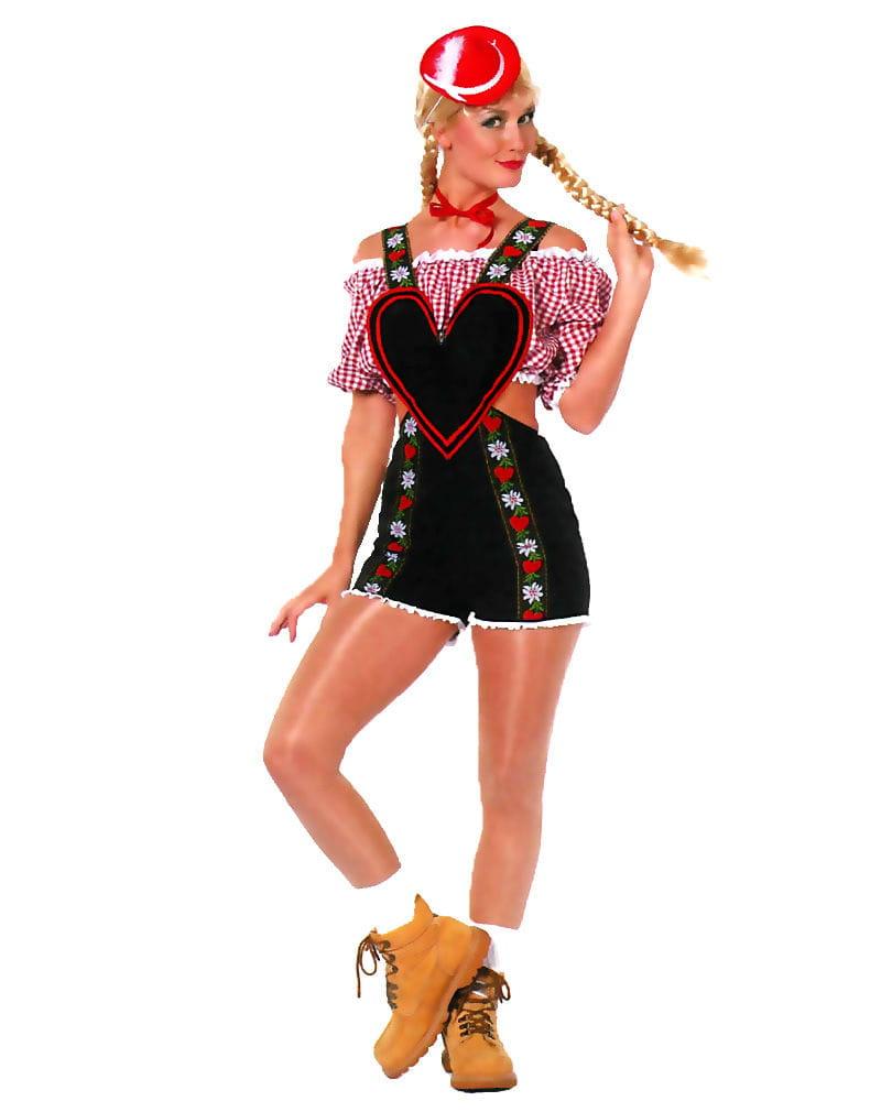 Latzhosen Kostüm Damen Bayerische Verkleidung für Frauen L / 40