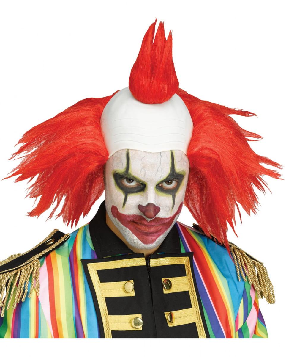 Twisted Horror-Clown Perücke rot Kostümzubehör