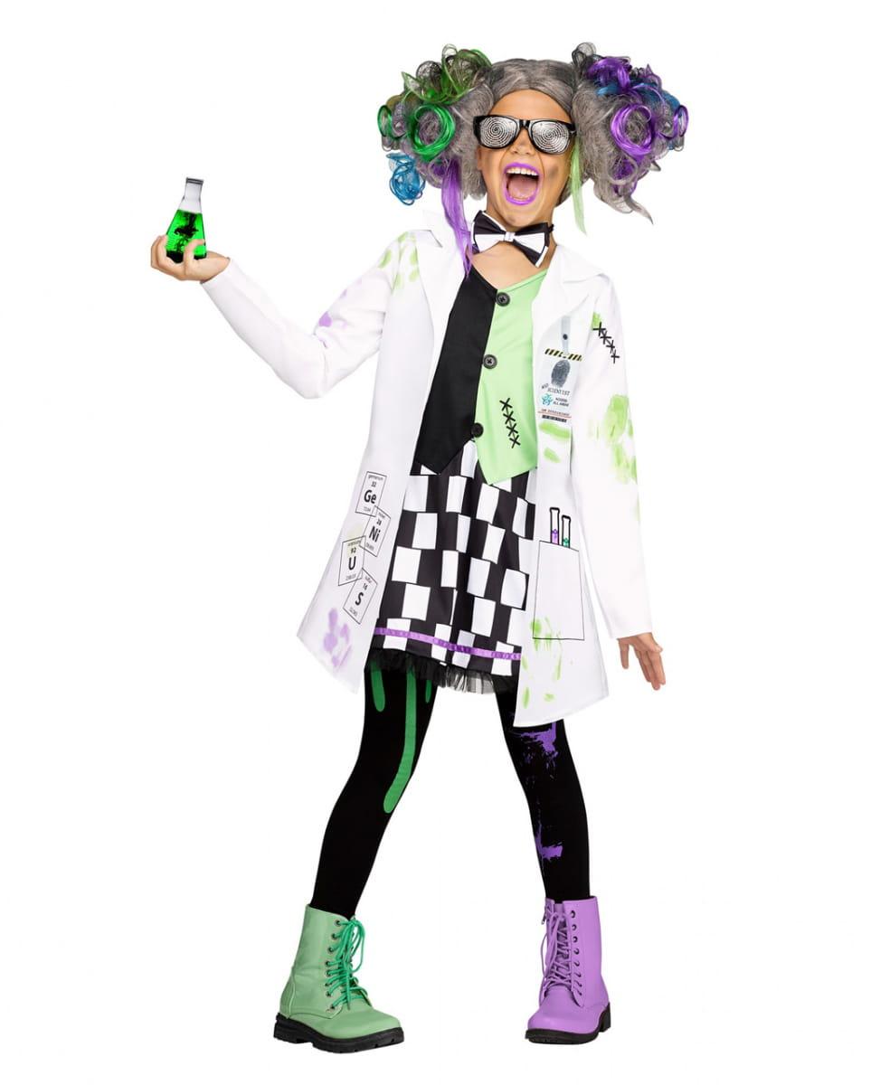 Crazy Wissenschaftlerin Mädchenkostüm kaufen XL