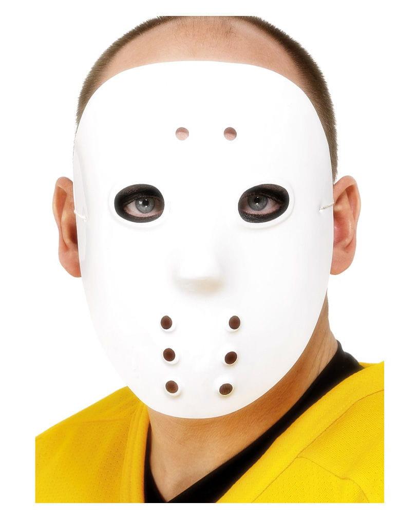 Weiße Hockey Maske Eishockey Maske als Horror Maske