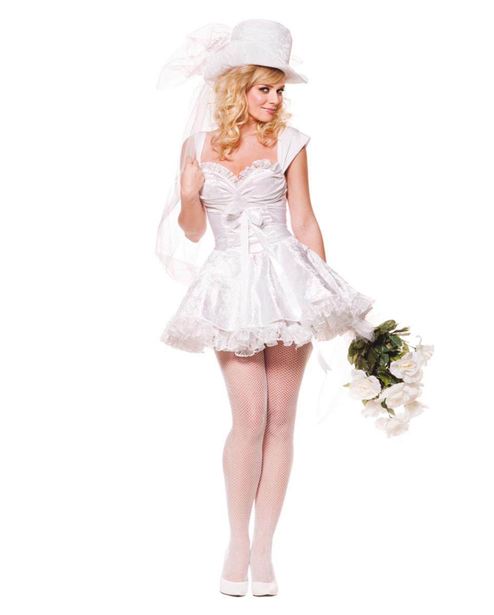 Zauberhafte Braut Premium Kostüm Gr. M Brautkleid als Minikleid