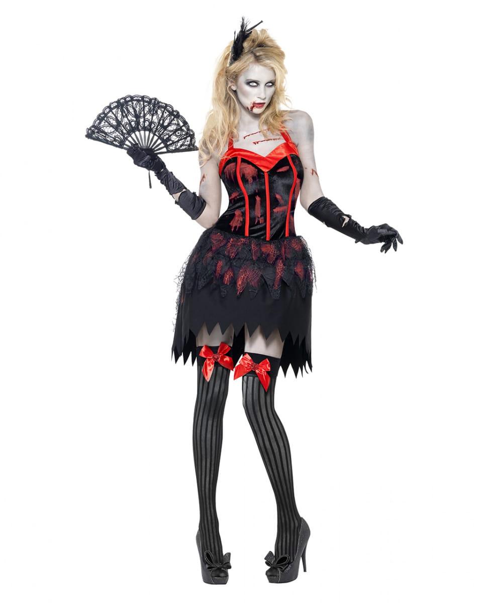 Zombie Burlesque Damen Kostüm Sexy Damen Zombie Verkleidung M