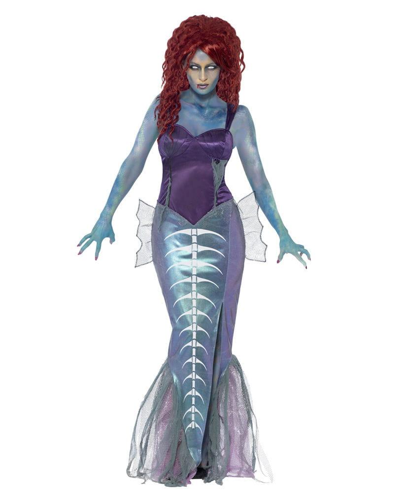 Zombie Sirene Kostüm Horror Meerjungfrau Verkleidung L