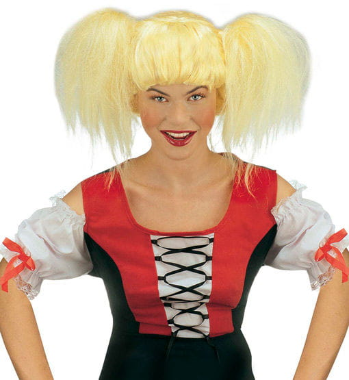 Zopfperücke Heidi blond Kunsthaar Perücke