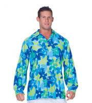 Flower Shirt blau
