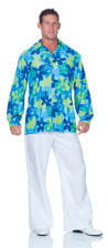 Hippie Shirt Blue Men Plus Size