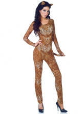 Sexy Leopard Kostüm XL
