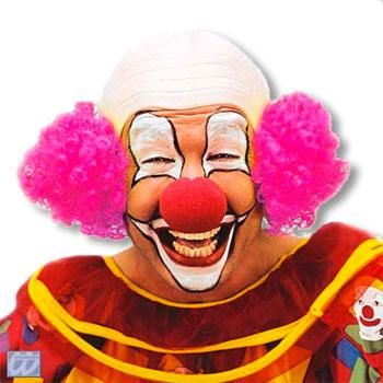 Clown Bald with pink hair