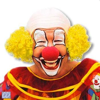 Clown bald with yellow hair