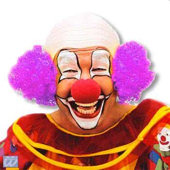 Clown Glatze mit Violettem Haar