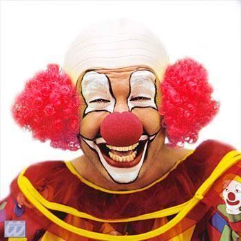Clown Glatze mit Rotem Haar
